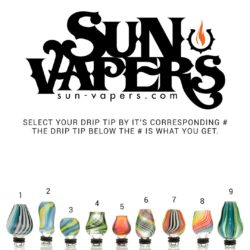 Ghosted Glass Hand Blown Drip Tips Rainbow