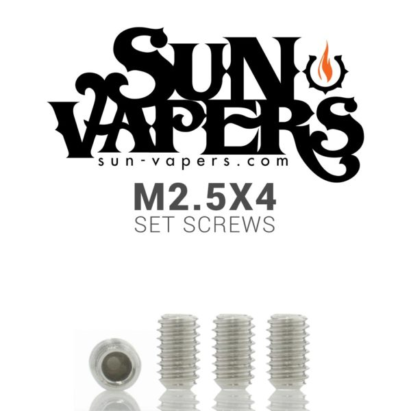 These are M2.5x4 set screws used on the Mutation X V2