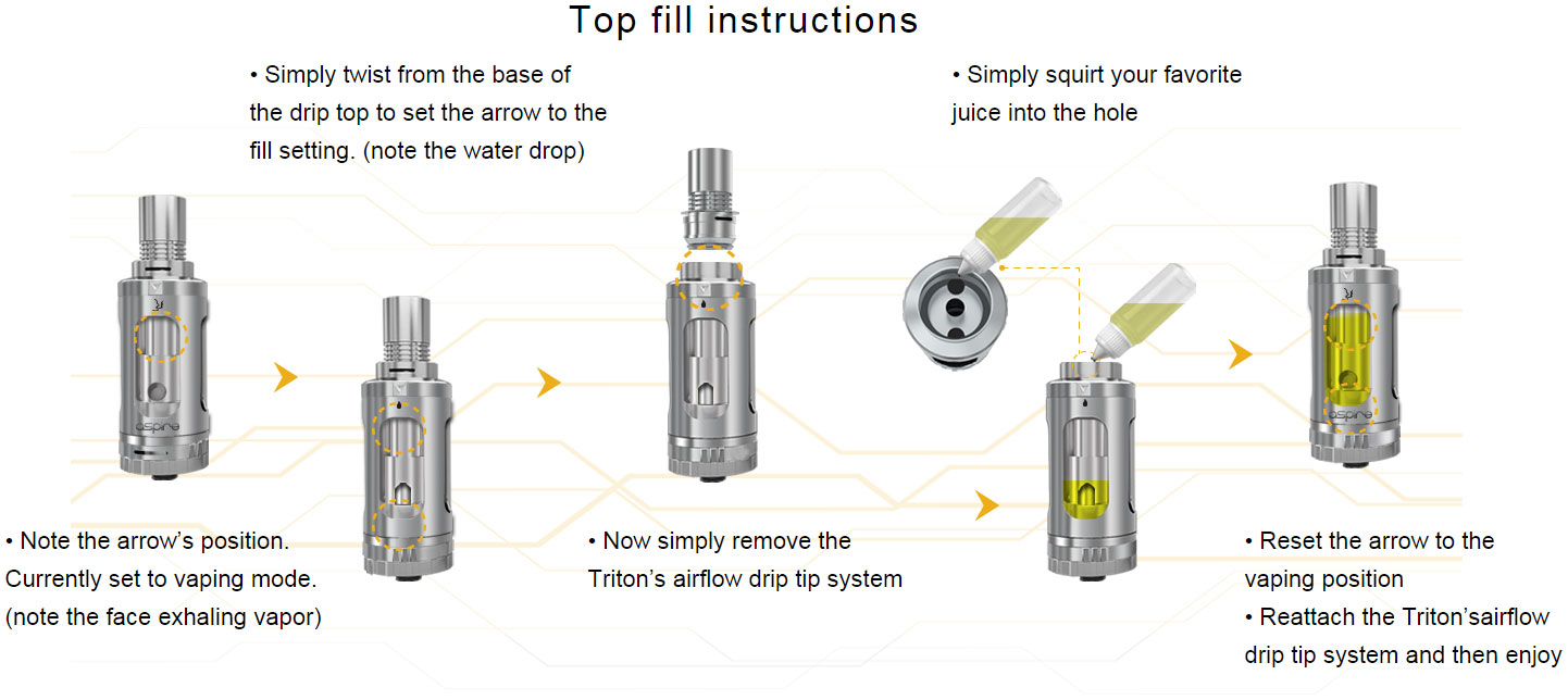 Filling the Aspire Triton